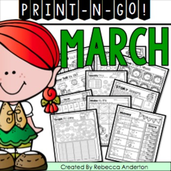March Print and Go 2nd Grade