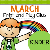 March Print and Play Club - Kindergarten