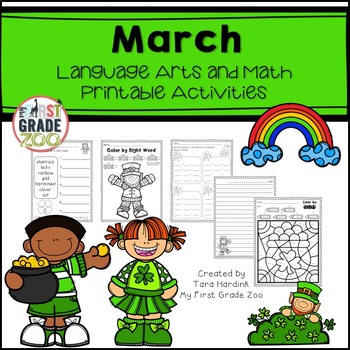 March Printables - Literacy and Math Activities