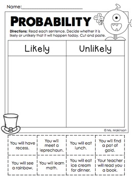 March Printables - First Grade Literacy and Math