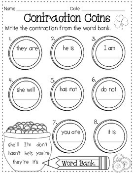 March Printables Mini-Pack for ELA and Math