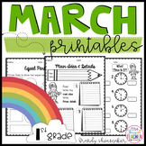 March Printables for First Grade