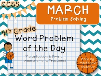 March Problem Solvers: Word Problem of the Day