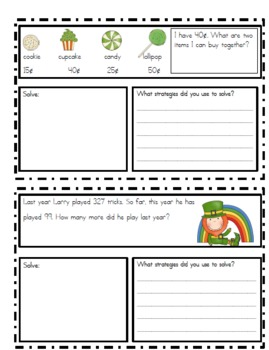March Problem Solving Booklet (word problems)