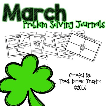 March Problem Solving Journal