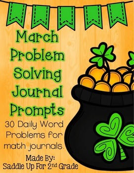 March Problem Solving Journal Prompts