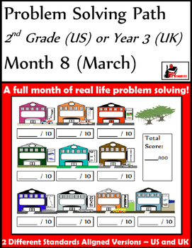 March Problem Solving Path: Real Life Word Problems for 2n