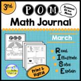 Math Problem-Solving - 3rd Grade March POM Pack