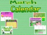 March Promeathean Board Calendar