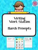 March Prompts for Writing Work Station
