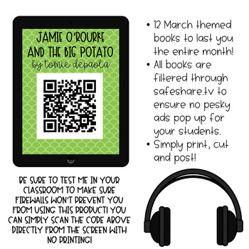☘ March QR Code Listening Center ☘