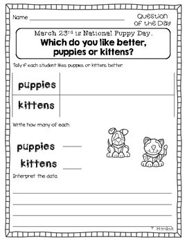 March - Question of the Day Graphing