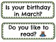 March Question of the Day Prompts