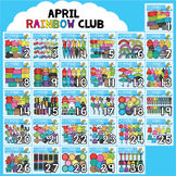 April Rainbow Club Clipart Bundle