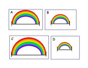 March Rainbow Measurement Math Center Freebie