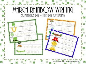 March Rainbow Writing