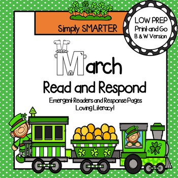 March Read and Respond:  March Emergent Readers and Comprehension Response Pages