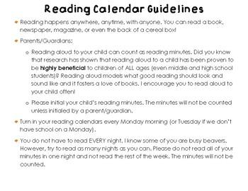 March 2018 Reading Calendar