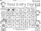 March Reading Calendar READ EVERYDAY! 2021