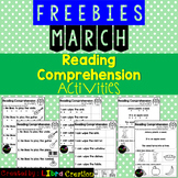 March Reading Comprehension Activities Freebies