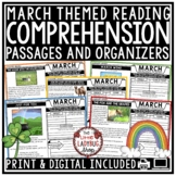 March Reading Comprehension Passages 4th Grade, 3rd Grade & 5th Grade