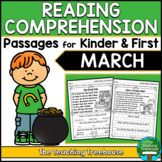 March Reading Comprehension Passages for Kindergarten and