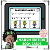 March Reading Fluency Digital Task Cards (Boom Cards™)