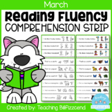 March Reading Fluency and Comprehension Sentence Strip