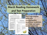 March Reading Homework and Test Preparation