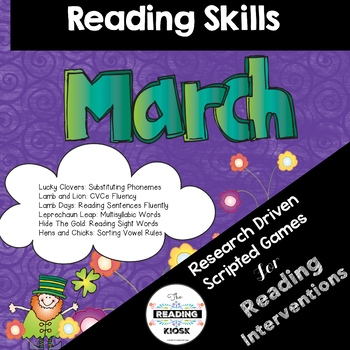 March Reading Intervention Games