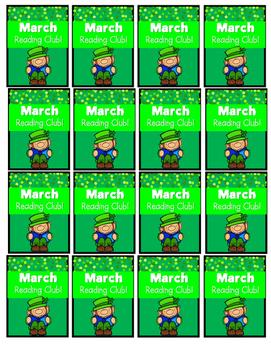 March Reading Log & Brag Tags