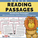 March Reading Passages - Nonfiction Text with Comprehension Activities