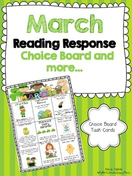 March Reading Response Choice Board