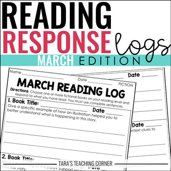 March Reading Response Logs (Grade 3)