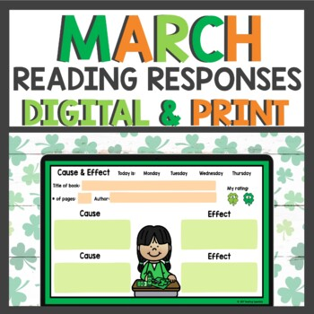 Reading Response Sheets for March
