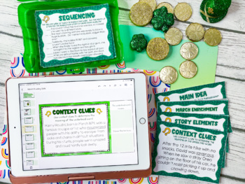 March Reading Skills and Enrichment Task Cards *Aligned to Common Core*