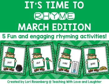 March Rhyming Activities