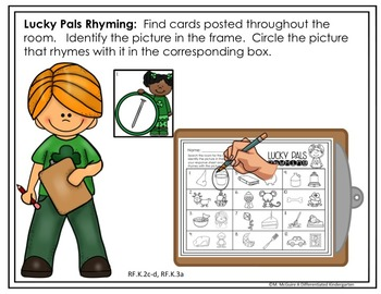 March Rhyming Write The Room Word Work Fun - Differentiated