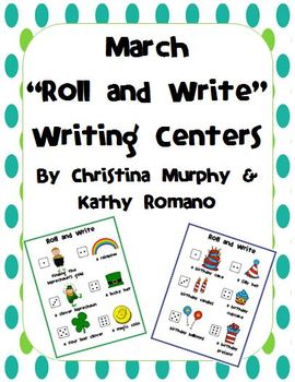 March Roll and Write Writing Centers