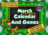 March SMARTboard Calendar and Games!