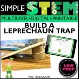 March STEM Activity Leprechaun Trap FREE
