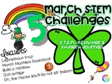 March St. Patrick's Day STEM activities with March Madness