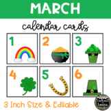 March Saint Patrick's Day Calendar Cards (3 INCH)