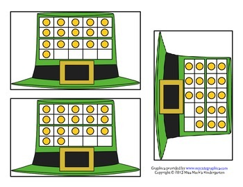March Saint Patrick's Day 10 Frame Counting Cards
