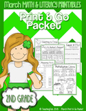 March (Saint Patrick's Day) PRINT and GO Packet [2nd Grade]