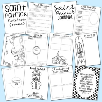 March Saints BUNDLE of Notebook Journal Projects, Catholic Resources
