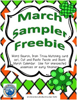 March Sampler Freebie