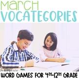 March Scattergories Games
