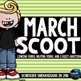 March Scooting through the year - 2 digit addition, Linking Verbs, Helping Verbs