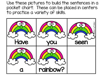 March Kindergarten Scrambled Sentences
